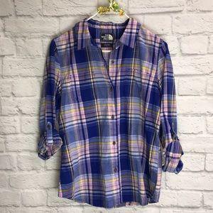 North Face Women's Plaid Button Down Shirt